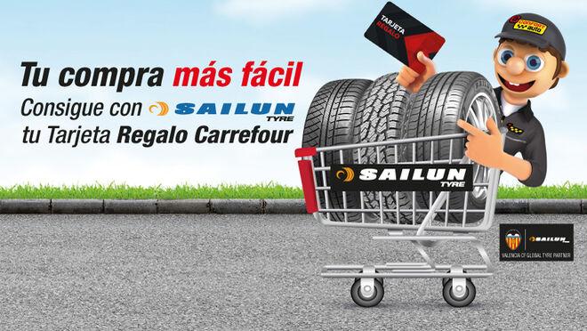 Confortauto regala cheques en Carrefour de hasta 60 euros por comprar neumáticos Sailun