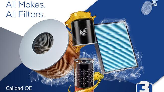 Filtros Blue Print: más de 2.000 referencias con tres años de garantía