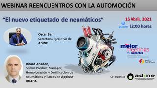 """Motormeetings presenta el webinar """"El nuevo etiquetado de neumáticos"""""""