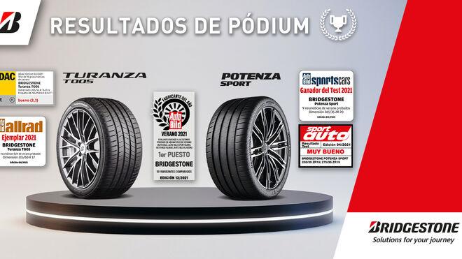 Bridgestone triunfa entre fabricantes en las pruebas europeas de neumáticos de verano