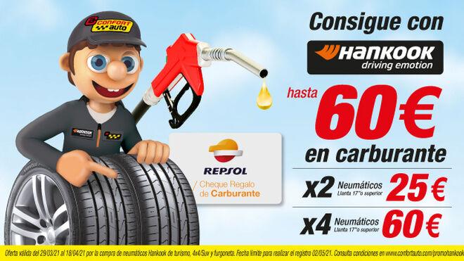 Confortauto regala hasta 60 euros de carburante por comprar neumáticos Hankook