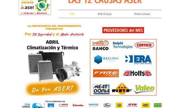 """""""Las 12 causas Aser"""" estrenan página web"""