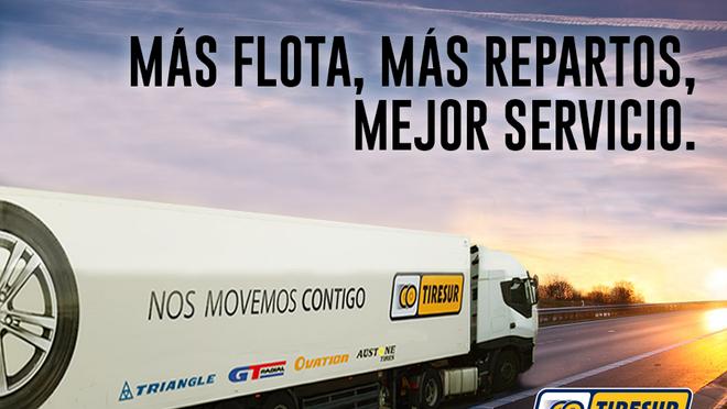 Tiresur aumenta sus repartos y mejora el servicio en Cataluña