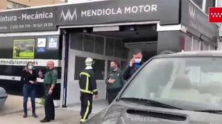 Conato de incendio en el taller Mendiola Motor de Pinto (Madrid)