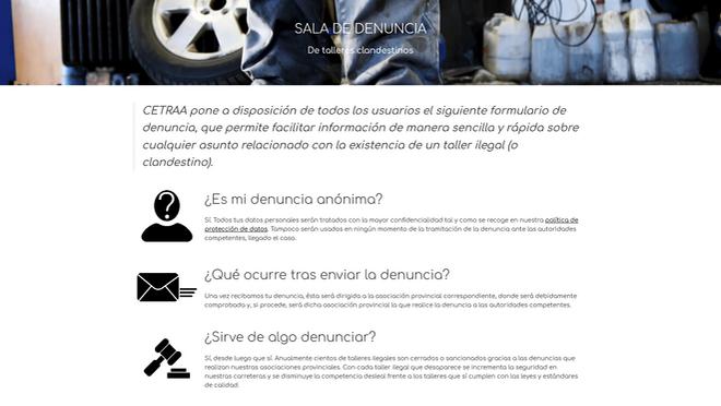 Cetraa renueva su Sala de Denuncia, tras recibir 7.000 de talleres ilegales desde 2014