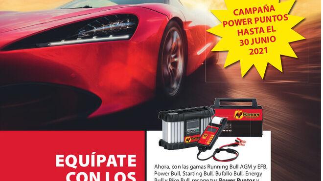 Campaña de baterías Banner con regalo de accesorios para su comprobación