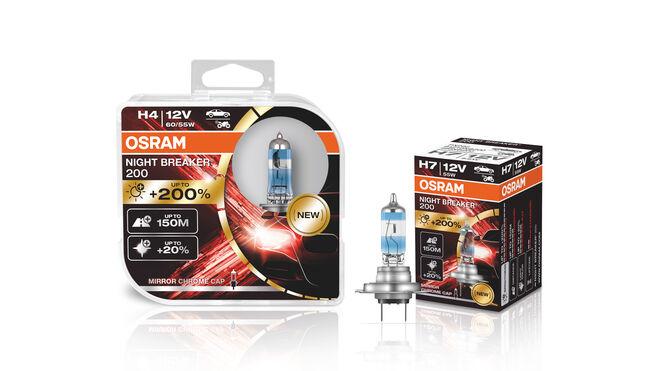 Osram lanza la nueva lámpara halógena para recambio Night Breaker 200