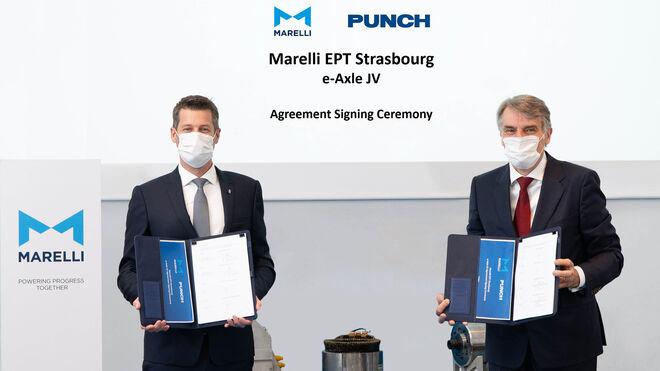 Joint-venture de Marelli y Punch Motive para el suministro de ejes para vehículos eléctricos