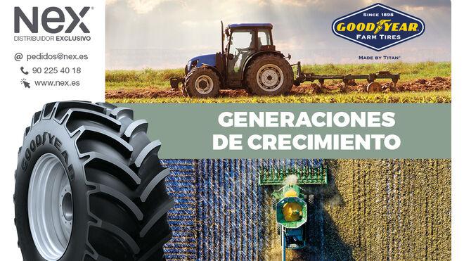 Nex Tyres refuerza su stock de neumáticos para cosechadoras