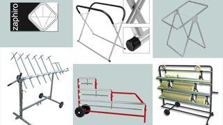 Zaphiro amplía sus gamas de soportes para piezas y carros de enmascarado