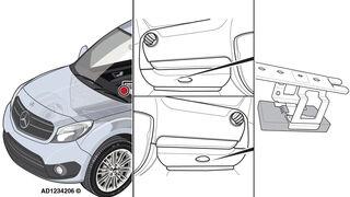 Solución a un fallo general en la iluminación exterior de un Mercedes-Benz Citan de 2013
