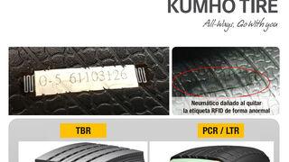 Kumho Tire denuncia la presencia de neumáticos de su marca sin etiqueta RFID