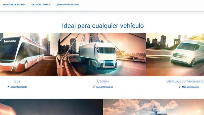 Webasto estrena web sobre soluciones de movilidad eléctrica para vehículos comerciales