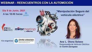 Centro Zaragoza explicará la manipulación segura del coche eléctrico en Motormeetings