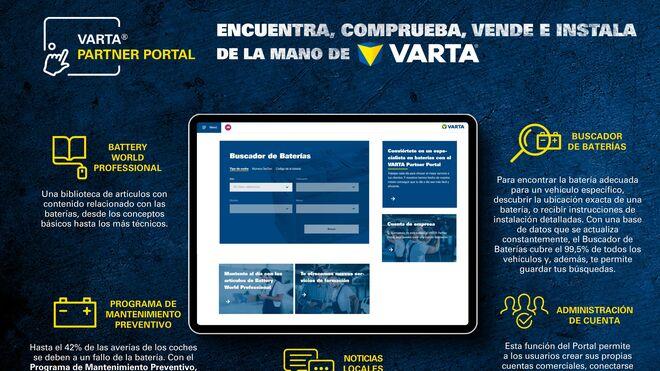 Clarios renueva su plataforma Varta Partner Portal para expertos en baterías