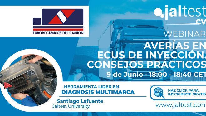 Eurorecambios del camión organiza un webinar sobre averías en ECUs de inyección