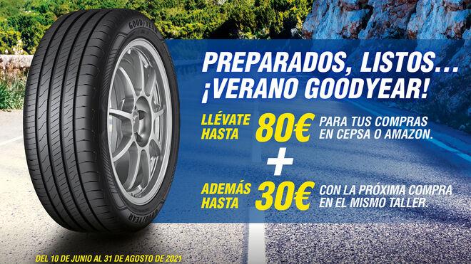 Goodyear regala este verano hasta 80 euros para gastar en Cepsa o Amazon