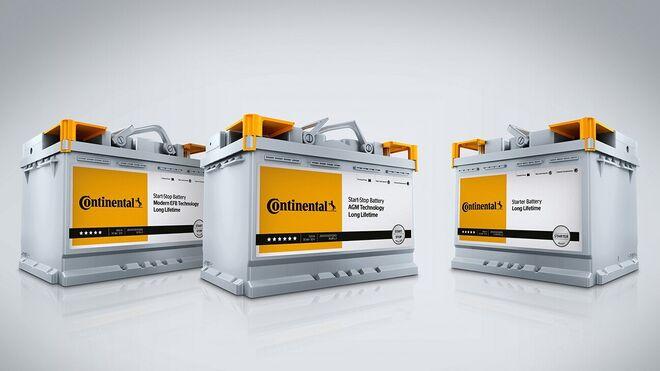 Las baterías Continental cubren el 75% del parque europeo de vehículos