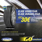 Los neumáticos de furgoneta de Goodyear llegan en verano con hasta 30 euros de regalo