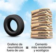 ¿Sabías que… se fabrica cemento más resistente y ecológico con grafeno procedente del caucho de NFU?