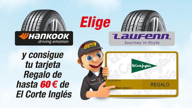 Confortauto regala hasta 60 euros por la compra de neumáticos Hankook o Laufenn