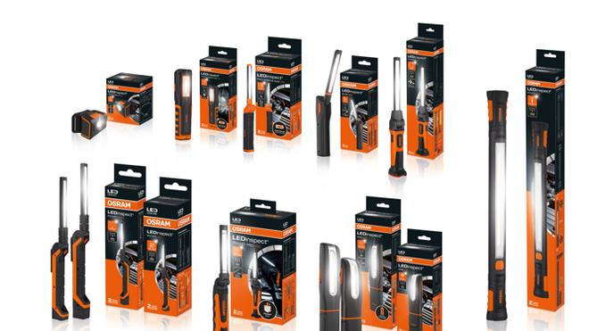 Osram amplía su gama de luces de trabajo LEDinspect con 12 nuevos modelos