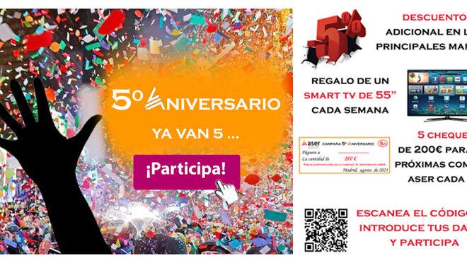 """La campaña """"5º Aniversario"""" de Aser llega a su ecuador con más de 12.000 euros repartidos"""
