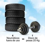 ¿Sabías que… pueden fabricarse discos de pesas olímpicos con caucho de NFU?