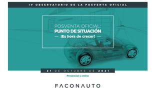 Faconauto celebrará su IV Observatorio de la Posventa Oficial el 21 de octubre
