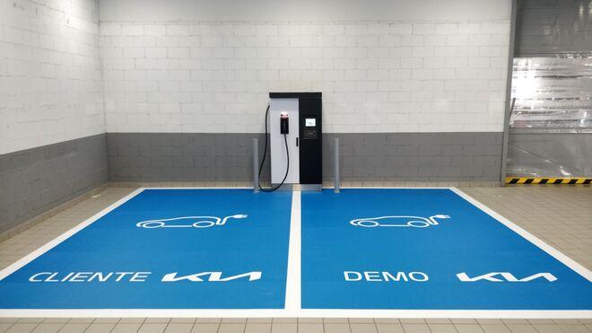 Todos los concesionarios Kia en España tienen ya un cargador para eléctricos en su taller