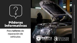 ¿Qué cuatro documentos son obligatorios para el taller de reparación de vehículos?