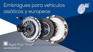 """Blue Print ofrece al mercado de recambios una gama de embragues """"ALL-MAKES"""" tanto para vehículos asiáticos como europeos"""