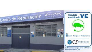 """Arcos Chapa y Pintura, primer taller """"Servicio VE certificado"""" por Centro Zaragoza"""