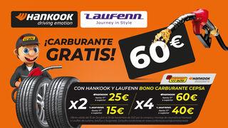 Confortauto regala hasta 60 euros en carburante por la compra de Hankook y Laufenn