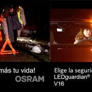 !Seguridad en sus manos! Con la luz premium y homologada OSRAM LEDguardian ROAD FLARE Señal V16